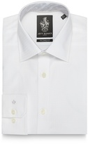 Jeff Banks Big And Tall White Textured Tailored Fit Shirt