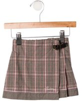 Burberry Girls' Pleated Wrap Skirt