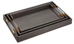 Twos Company Two's Company Grey Decorative Trays, Set of 3