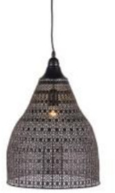 The Forest & Co. - Distressed Moroccan Hanging Light - Grey/Black