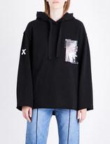 Sjyp Graphic-print cotton-jersey hoody