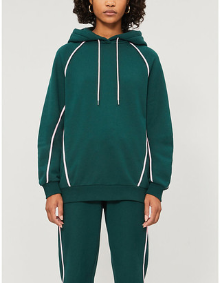 Ninety Percent Contrast-seam organic cotton-jersey hoody
