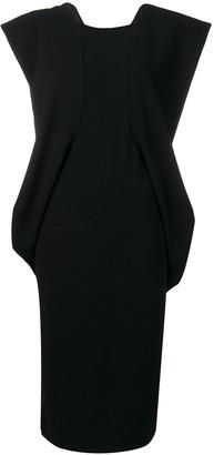 Chalayan structured shoulder dress