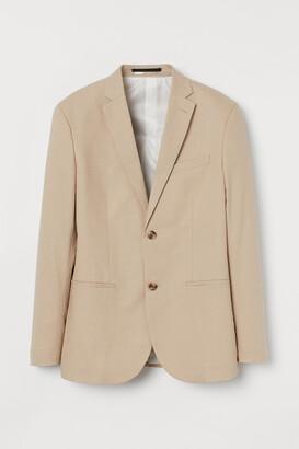 H&M Slim Fit Linen-blend Blazer