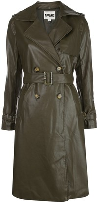 Apparis Faux Leather Trench Coat