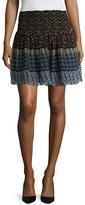 Shoshanna Women's Silk Printed Flared Skirt