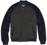 Original Penguin Vintage Wool Blend Varsity Jacket, Dark Shadow
