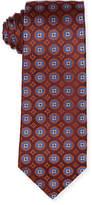 Isaia Woven Medallion Silk Tie