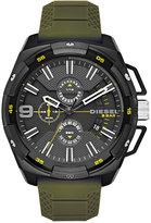 Diesel Men's Chronograph Heavyweight Green Silicone Strap Watch 50x56mm DZ4396