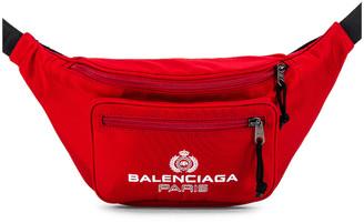 Balenciaga Paris Laurel Explorer Belt Pack in Bright Red | FWRD