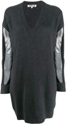 McQ mesh sleeve dress