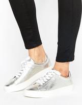 MANGO Metallic Lace Up Sneaker