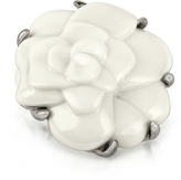 A-Z Collection White Camelia Flower Brooch