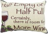 """B. Smith The Vintage House by Park Half Empty"""" Tapestry Oblong Throw Pillow"""