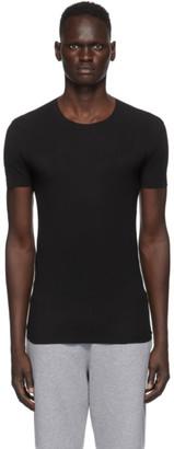 Ermenegildo Zegna Black Crewneck Seamless T-Shirt