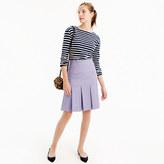 J.Crew Box-pleated skirt in wool flannel