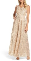 Ellen Tracy Women's Ribbon Soutache Gown