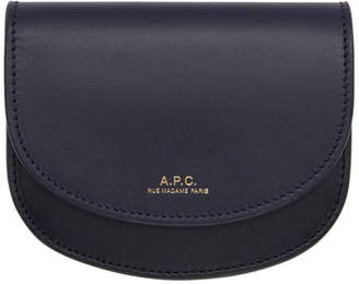 A.P.C. Black and Navy Compact Geneve Wallet