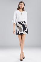 Josie Natori Abstract Printed Jacquard Mini Skirt