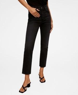 MANGO Women's High Waist Slim Jeans
