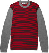McQ by Alexander McQueen Slim-Fit Striped Merino Wool Sweater