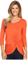 Karen Kane V-Neck Side Twist Top