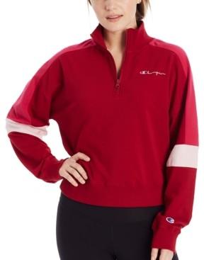 Champion Campus Colorblocked Half-Zip Sweatshirt