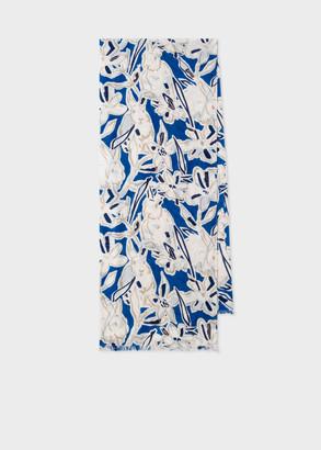 Women's Indigo 'Lucky Meadow' Print Cotton Scarf