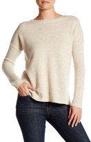 Sofia Cashmere Marl Neck Long Sleeve Cashmere Sweater