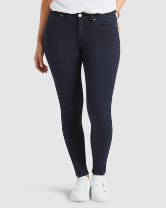 Jeanswest Women's Navy Skinny - Curve Embracer Skinny Jeans Indigo Ink - Size One Size, 16 Regular at The Iconic