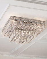 Horchow Eight-Light Crystal Flush-Mount Ceiling Fixture