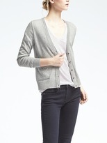 Banana Republic Pima Cotton Cashmere Vee Cardigan