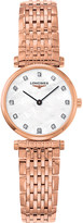 Longines L4.209.1.97.8 La Grande Classique rose gold and diamond watch