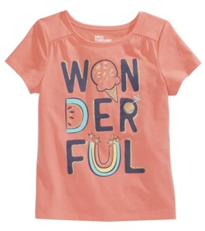 Epic Threads Little Girls Wonderful Graphic T-Shirt, Created for Macy's