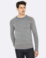 Oxford Brax Stripe Crew Neck Knit