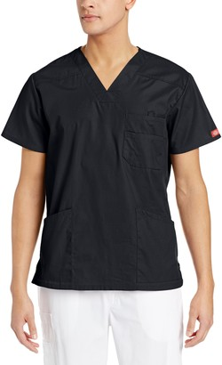 Dickies Men's V-Neck Scrub Double Chest Pocket Top