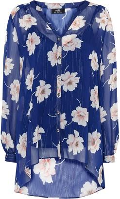 Wallis Blue Floral Print Shirt