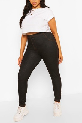 boohoo Plus Pocket Back Basic Jeggings