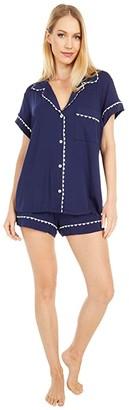 Eberjey Ric Rac Short PJ Set (Peacoat/White) Women's Pajama Sets
