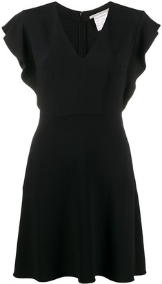 Stella McCartney flounce-sleeve V-neck mini-dress