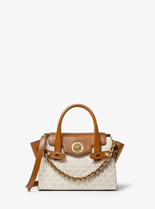 MICHAEL Michael Kors Carmen Extra-Small Logo and Leather Belted Satchel
