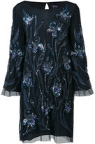 Marchesa sequin embroidered dress - women - Nylon/Sequin - 2