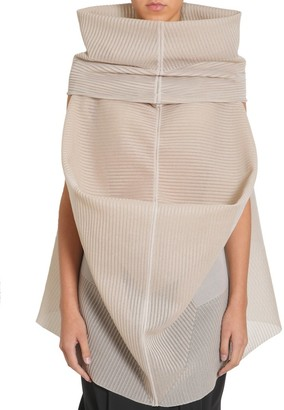 Rick Owens Oversized Funnel Collar Draped Top