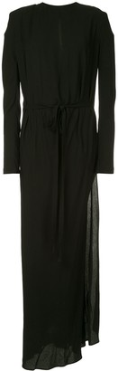 Haider Ackermann Tie Waist Long Dress