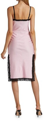 alexanderwang.t Lace Trim Midi Dress