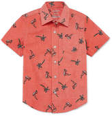 Arizona Short Sleeve Button-Front Shirt Boys Husky