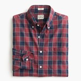 J.Crew Slim Secret Wash shirt in heather poplin faded plaid