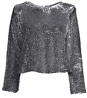 Ganni Women's Sequin Blouse