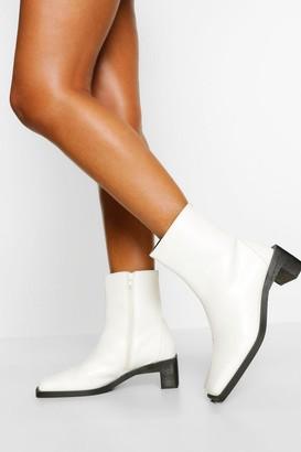 boohoo Interest Low Heel Shoe Boot