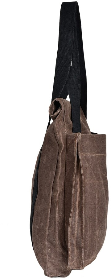 Thumbnail for your product : LaneFortyfive - The Basto Tote Bag - Dark Oak Waxed Canvas